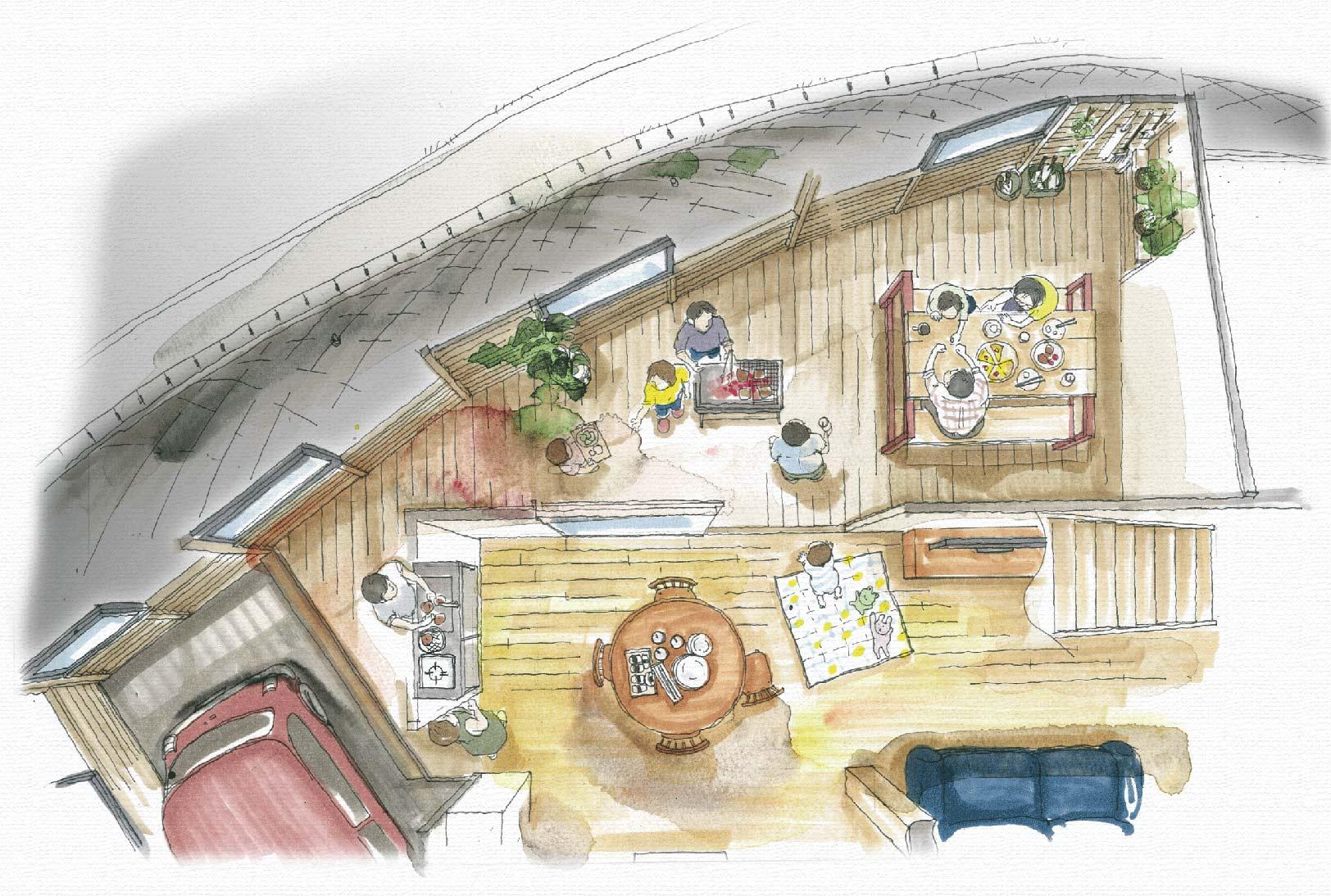 こちらが現在計画中のGOOD-TIME PLACE「HANABIテラス」の完成イメージ